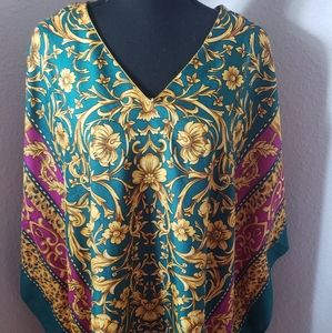 Just In: New Teal/Fuschia Kaftan Cover-up …